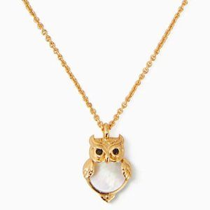 Kate Spade Into the Woods Owl Mini Pendant